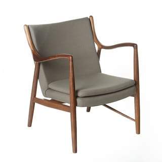 Design Tree Home Finn Juhl Inspired 45 Chair Walnut Frame (China)