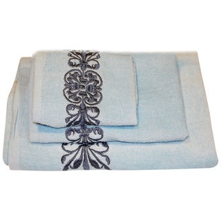 Beautiful Regalia Cotton 3-piece Bath Towel Set