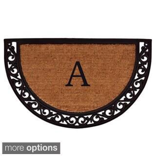 Ornate Scroll Monogram Doormat (2'x3')