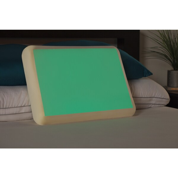 Comfort Memories Glow in the Dark Gel and Memory Foam Pillow