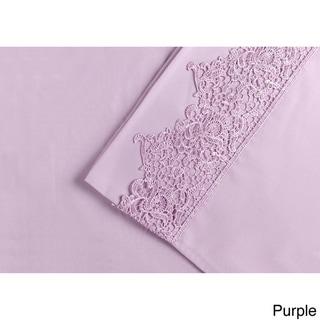 Superior Wrinkle Resistant Embroidered Regal Lace Sheet Set
