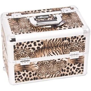 Sunrise Interchangeable Easy Slide Extendable Tray Leopard Makeup Case
