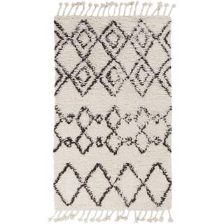 Hand-Woven Erika Geometric Wool Rug (5' x 7'6)