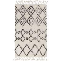 "Hand-Woven Erika Geometric Wool Area Rug - 5' x 7'6"""
