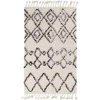 Hand-Woven Erika Geometric Wool Area Rug - 8' x 10'