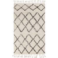 Hand-Woven Flynn Geometric Wool Area Rug - 8' x 10'