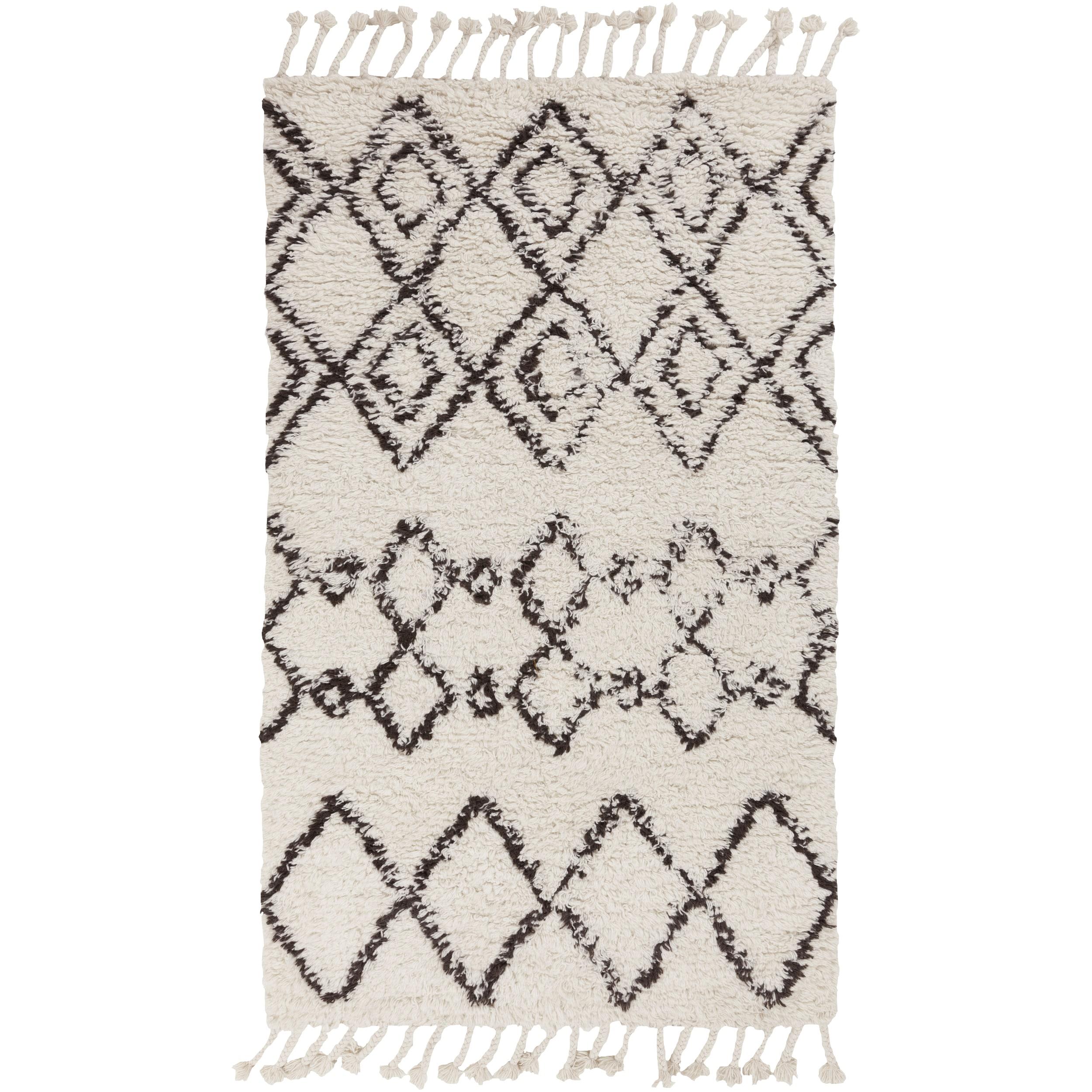 SURYA Hand-Woven Erika Geometric Wool Rug (9' x 13') (Tan...