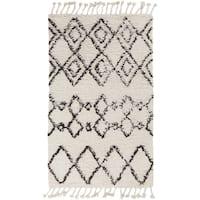 Hand-Woven Erika Geometric Wool Area Rug - 9' x 13'