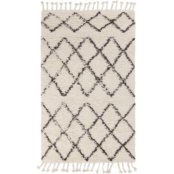 Hand-Woven Flynn Geometric Wool Area Rug (2' x 3') - 2' x 3'