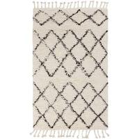 Hand-Woven Flynn Geometric Wool Area Rug - 2' x 3'