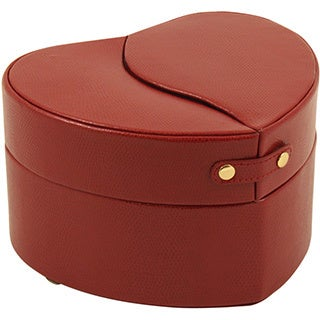 Bey Berk 'Evelyn' Red Leather Jewelry Case