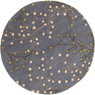 Hand-Tufted Ace Contemporary Wool Rug (6' x 9' Oval)