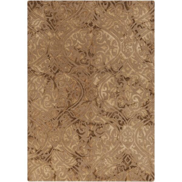 Shop Hand Tufted Neston Damask Pattern Wool Area Rug On