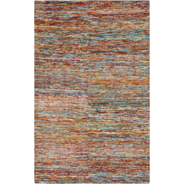 Hand-Knotted Roderick Abstract Pattern Cotton Rug (5' x 8')