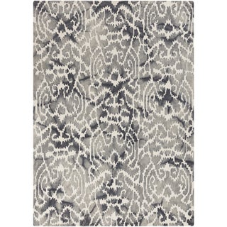 Hand-Tufted Newent Damask Pattern Wool Rug (8' x 10')