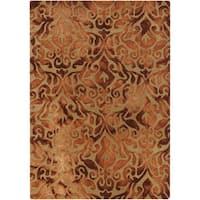 Hand-Tufted Newlyn Damask Pattern Wool Area Rug - 8' x 10'