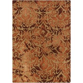 Hand-Tufted Newlyn Damask Pattern Wool Area Rug (8' x 10') - 8' x 10'