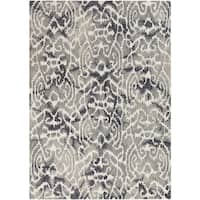 Hand-Tufted Newent Damask Pattern Wool Area Rug (9' x 13')