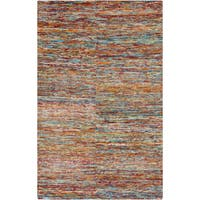 Hand-Knotted Roderick Abstract Pattern Cotton Area Rug (2' x 3')