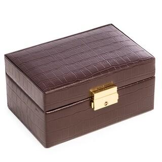 Bey Berk 'Dalton' Brown Leather Watch Accessories Case