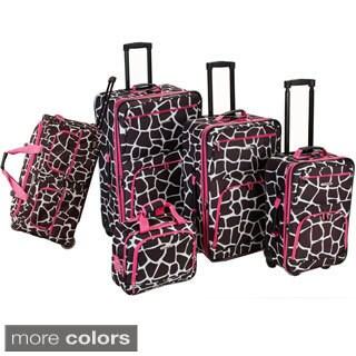Rockland Giraffe 5-piece Expandable Rolling Upright Luggage Set