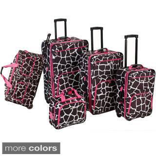 Rockland Giraffe 5-piece Expandable Rolling Upright Luggage Set https://ak1.ostkcdn.com/images/products/9936661/Rockland-Giraffe-5-piece-Expandable-Rolling-Upright-Luggage-Set-P17092056.jpg?impolicy=medium