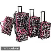 Rockland Giraffe 5-piece Expandable Rolling Upright Luggage Set