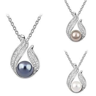 Princess Ice Platinum-plated Freshwater Pearl Pendant (10mm)|https://ak1.ostkcdn.com/images/products/9936682/P17092037.jpg?impolicy=medium