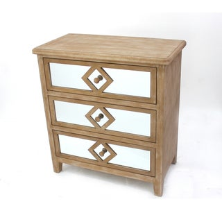 Mirrored 3-drawer Wood Dresser