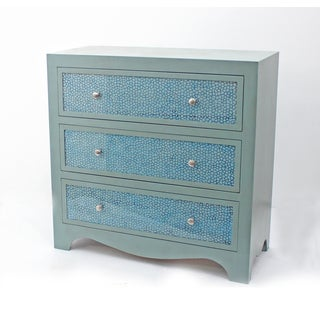 Green 3-drawer Wood Dresser