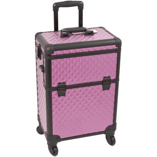 Sunrise Purple Interchangeable Diamond Pattern Rolling Makeup Case