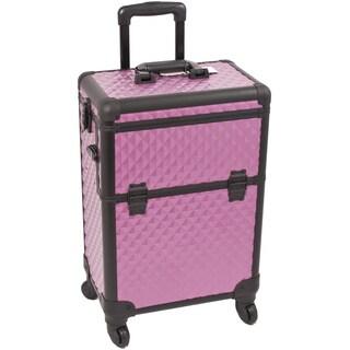 Sunrise Purple Interchangeable Diamond Pattern Rolling Makeup Case