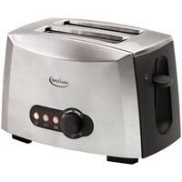 Betty Crocker Brushed Stainless Steel 2-slice Toaster