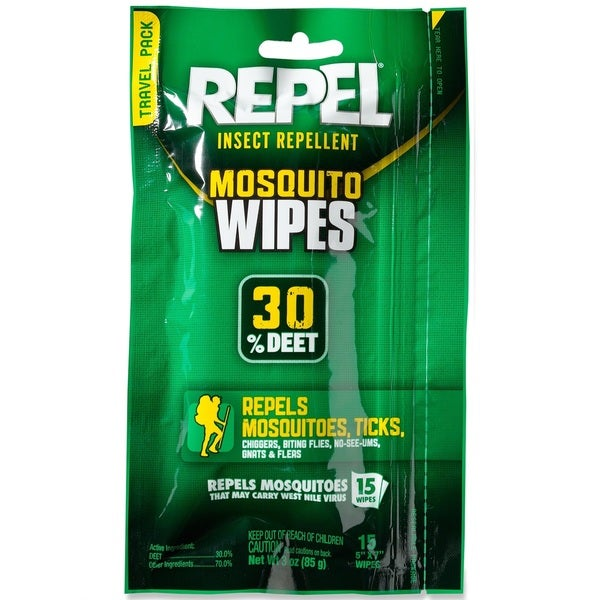 Repel Sportsmans Wipes (Pack of 15)