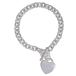 Sterling Silver Heart Charm Bracelet