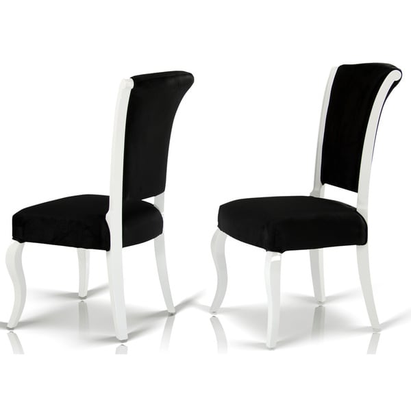 Black White Floral Dining Side Chair Set: Shop Modrest Versus Mia Black Fabric Dining Chair With