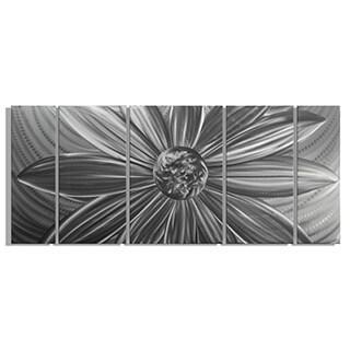 Metal Artscape 'Daisy in Silver' Metal Wall Art