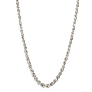 Graduated Hollow 18-inch Rope Necklace