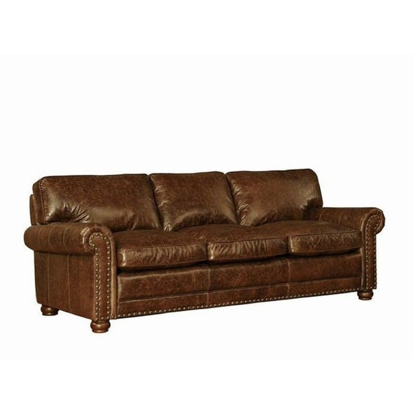 Attractive Lazzaro Genesis Leather Sofa