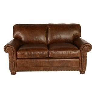 Lazzaro Genesis Leather Love Seat