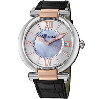 Chopard Women's 388531-6005 LBK 'Imperiale' Mother of Pearl Dial Black Leather Strap Two Tone Automatic Watch