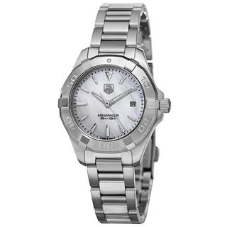 Tag Heuer Women's WAY1312.BA0915 '300 Aquaracer' Mother of Pearl Dial Stainless Steel Quartz Watch
