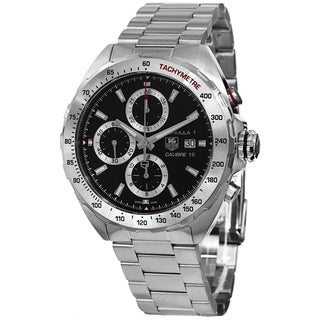 Tag Heuer Men's CAZ2010.BA0876 'Formula 1' Black Dial Stainless Steel Chronograph Automatic Watch