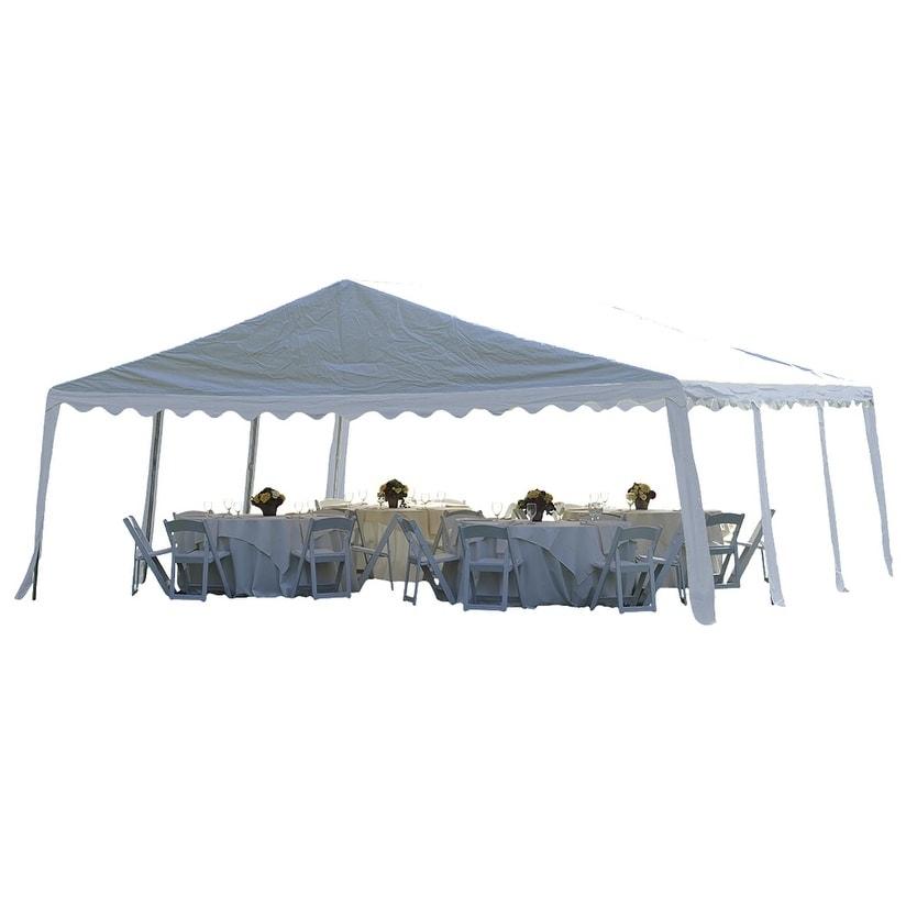 ShelterLogic 20' x 20' Party Tent Canopy 8-leg Galvanized...