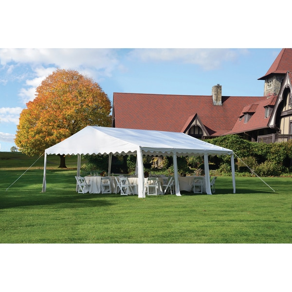 shelterlogic 20 x 20 party tent canopy 8 leg galvanized steel frame
