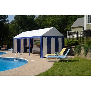 ShelterLogic 10' x 20' Blue/ White Party Tent Enclosure Kit with Windows (Frame and cover sold separately)