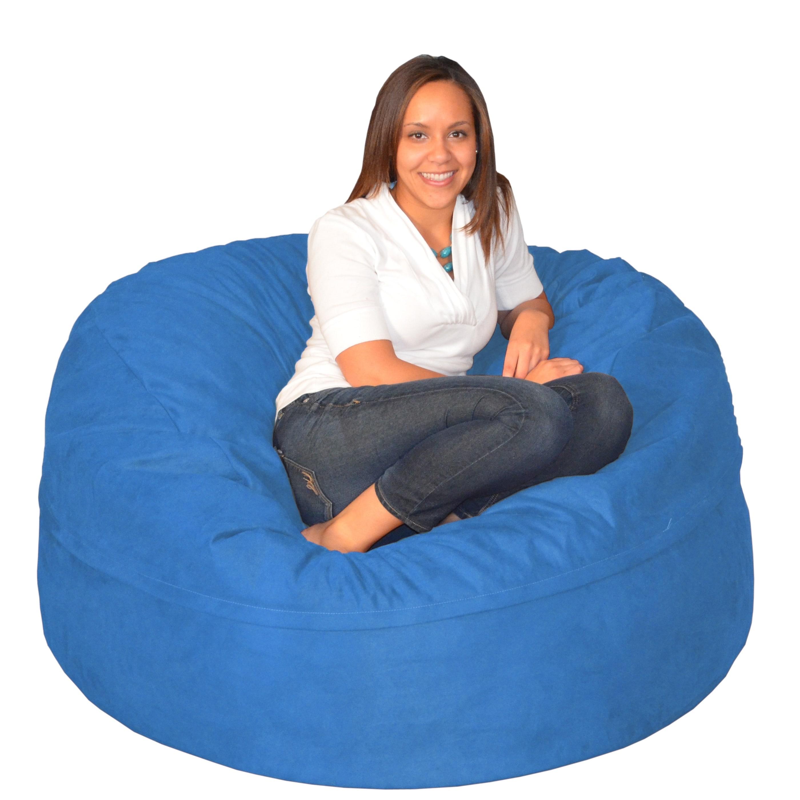 Enjoyable Porch Den Green Bridge Large Memory Foam Bean Bag 5 Foot Foam Chair Short Links Chair Design For Home Short Linksinfo