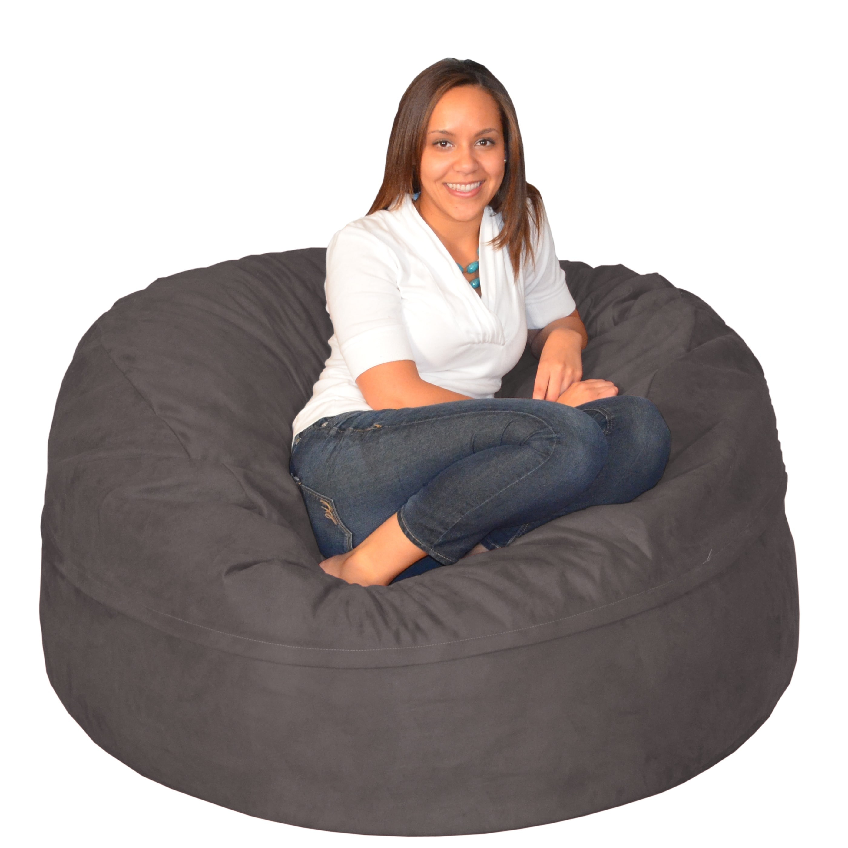 Large Memory Foam Bean Bag 5 Foot Chair
