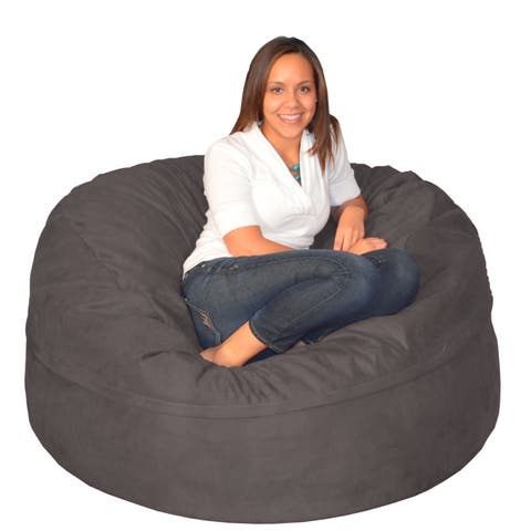 Porch & Den Green Bridge Large Memory Foam Bean Bag 5-foot Foam Chair