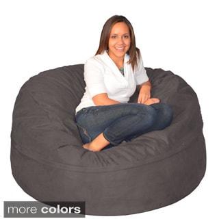 Large Memory Foam Bean Bag 5 Foot Foam Chair